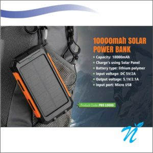 Solar Power Bank With Tourch - 10000 mah