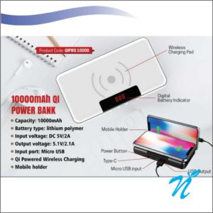 Wireless Power Bank with Mobile Holder 10000 mah