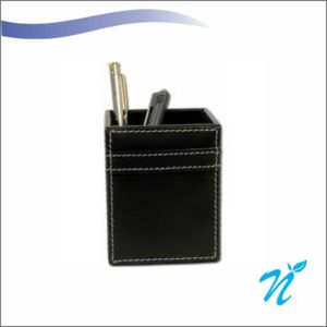 Pure Leather Pen Stand